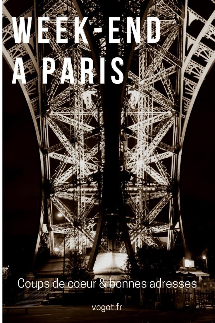 Un week-end à Paris : Photographies, les meilleures adresses et les bons plans de Paris. Vogot vous fait découvrir la ville à travers les cinq sens.
