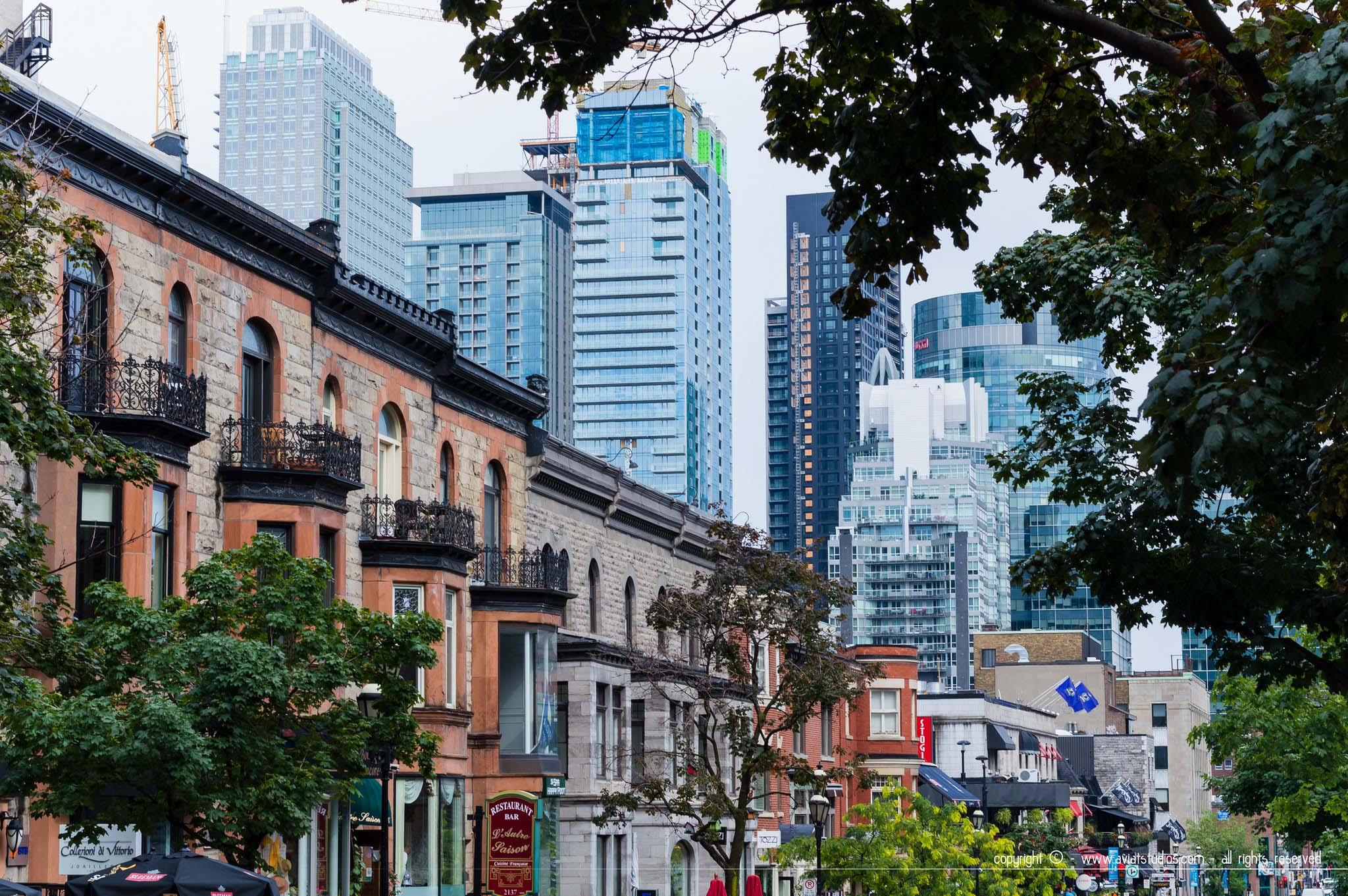 Voyage à Montréal - Rue Crescent