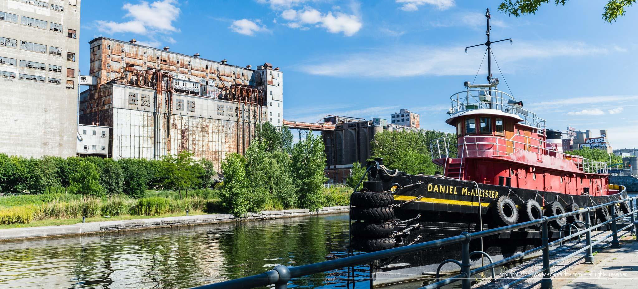 Un été à Montréal avec le Daniel McAlister face au jardin des écluses