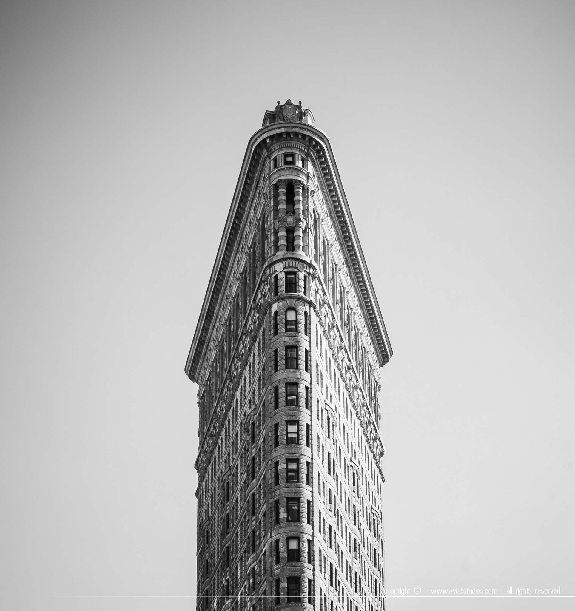 Le célèbre Flat Iron Building
