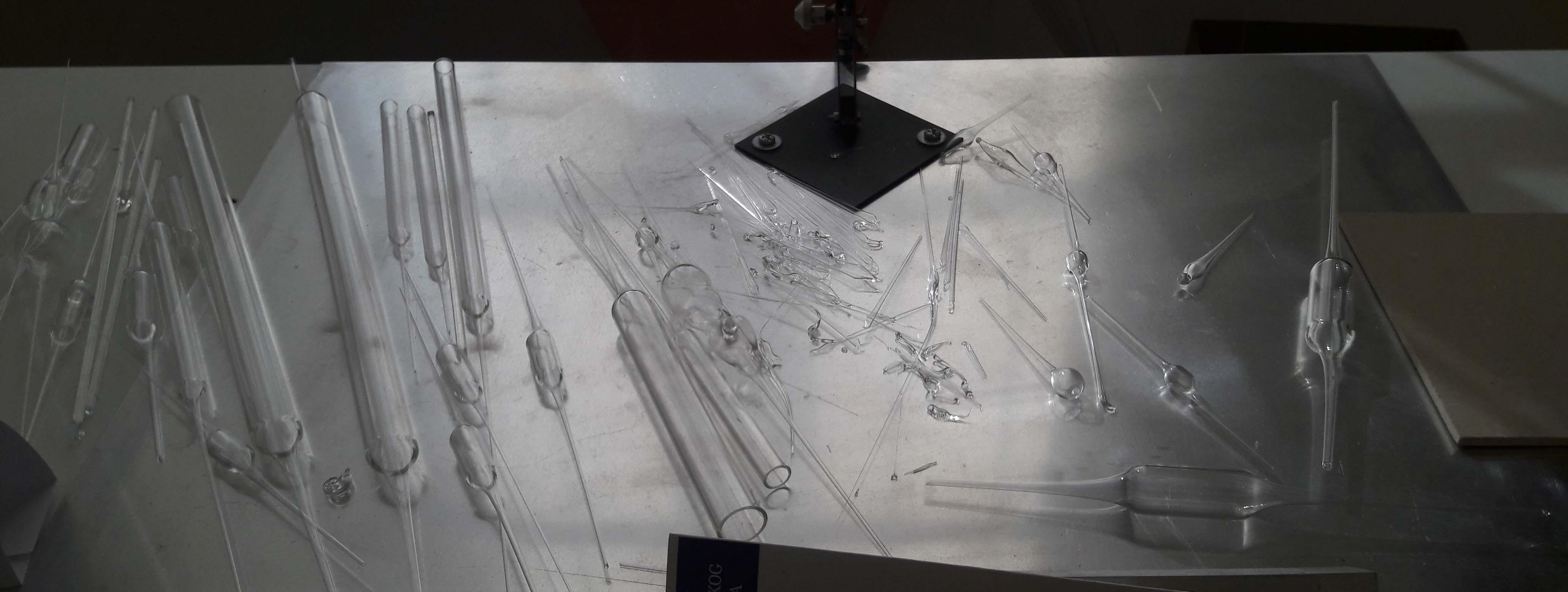Les éprouvettes et autres verreries du Musée du verre antique de Zadar
