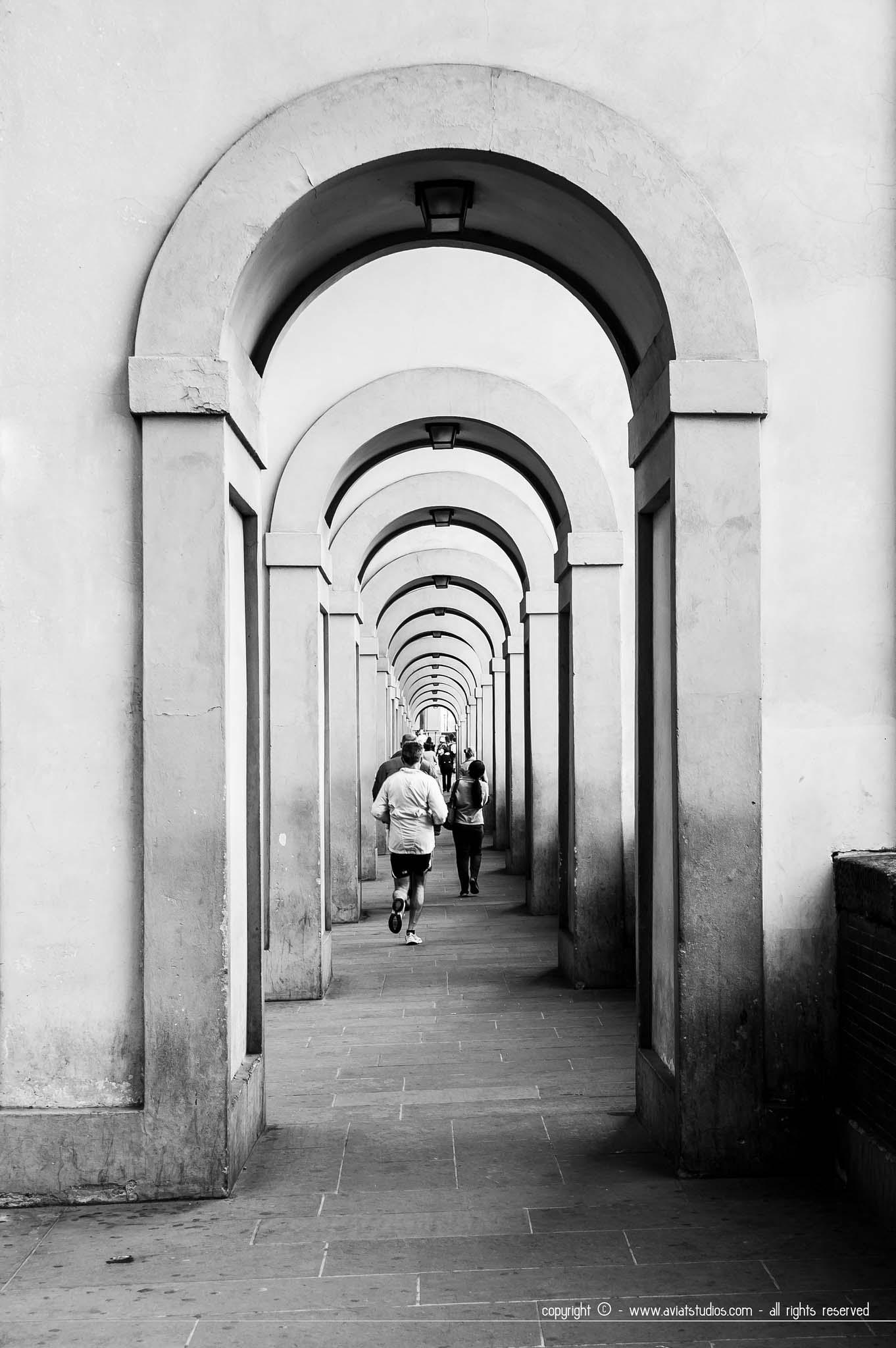 Ambiance matinale le long de l'Arno