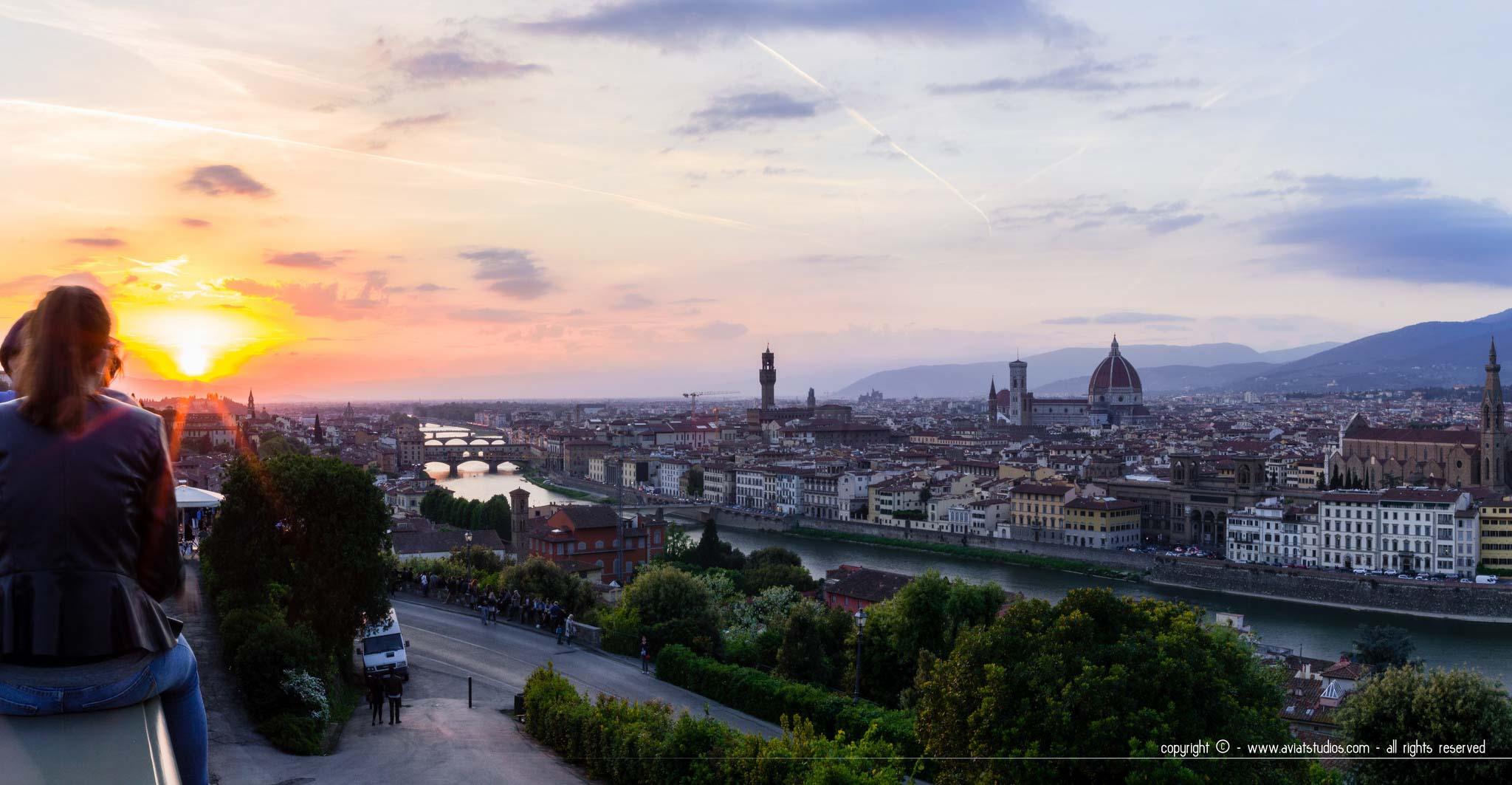 Panorama sur Florence depuis la Piazzale Michelangelo