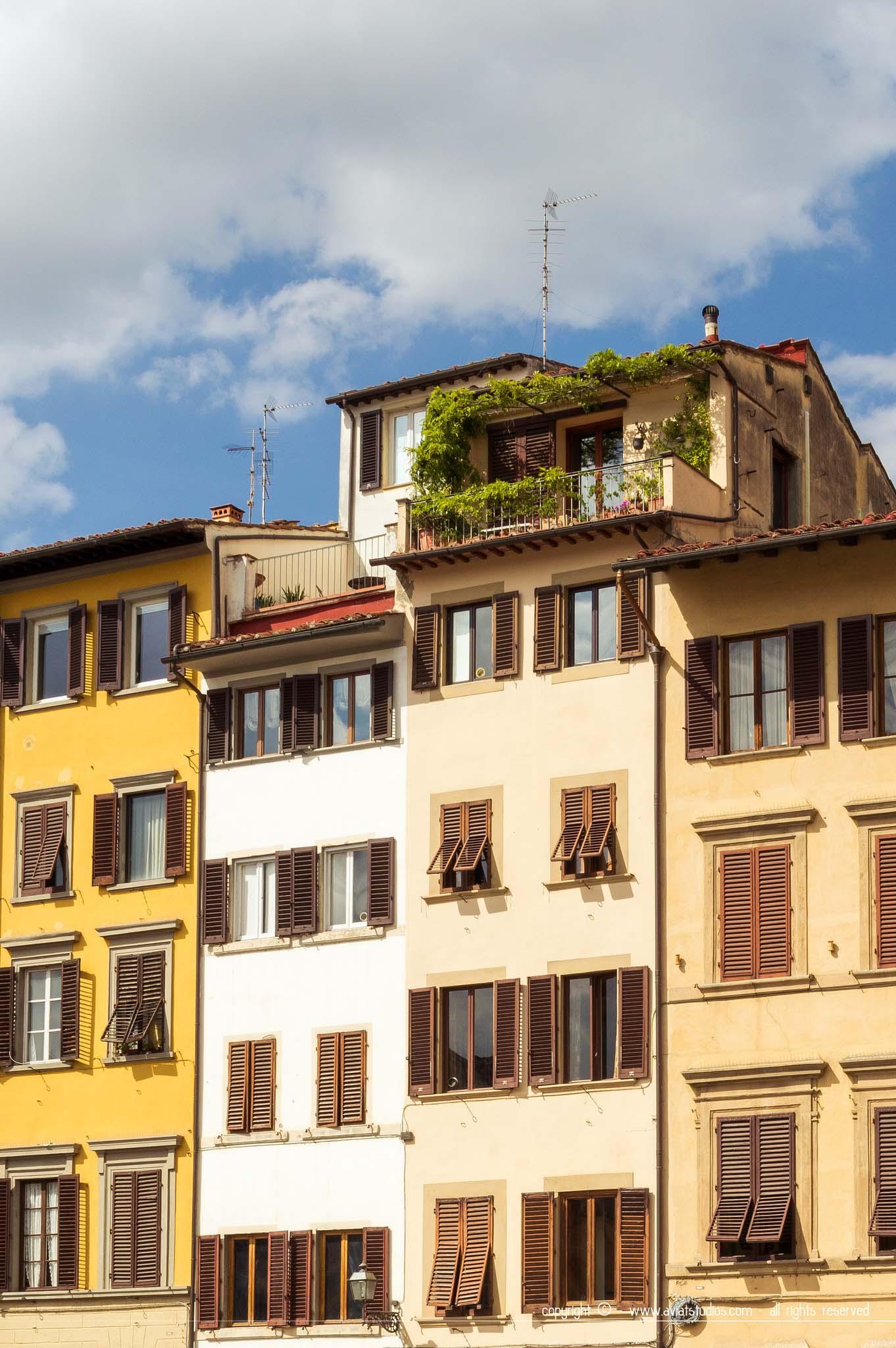 Un week-end à Florence - des habitations baignées de soleil