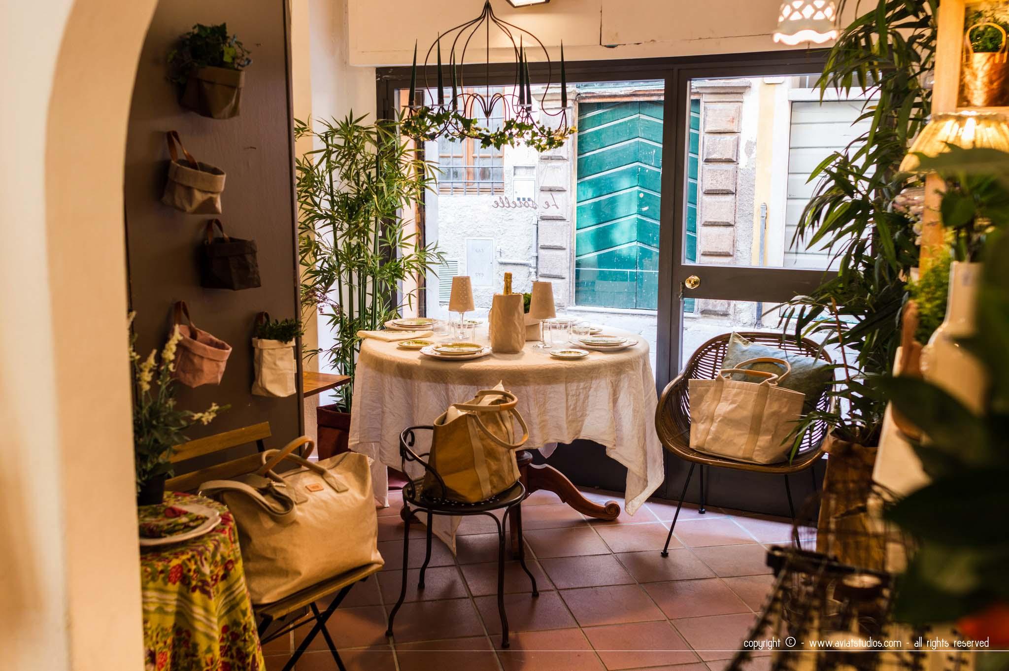 journée à Lucca - intérieur de la boutique Le Sorelle