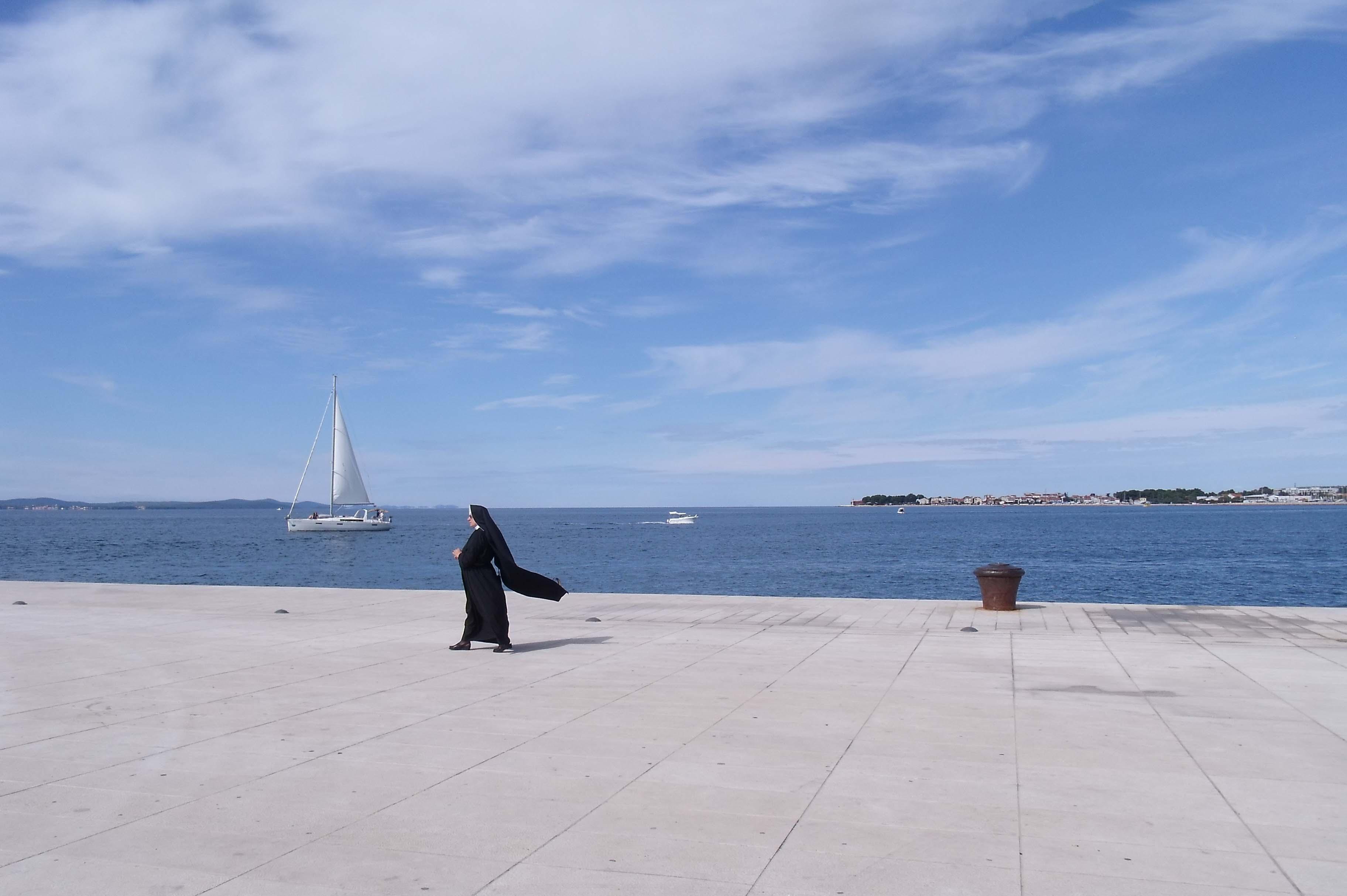 Quelques jours à Zadar - une religieuse au bord de l'eau