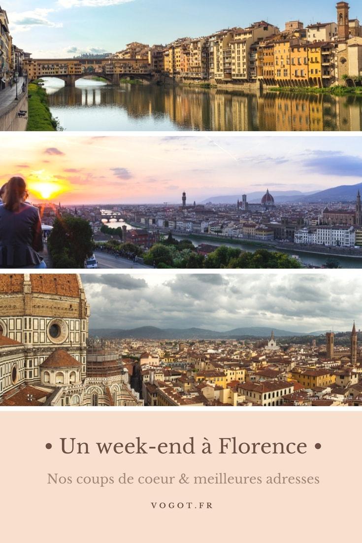 Un week-end à Florence : Photographies, les meilleures adresses et les bons plans de Florence. Vogot vous fait découvrir la ville à travers les cinq sens.
