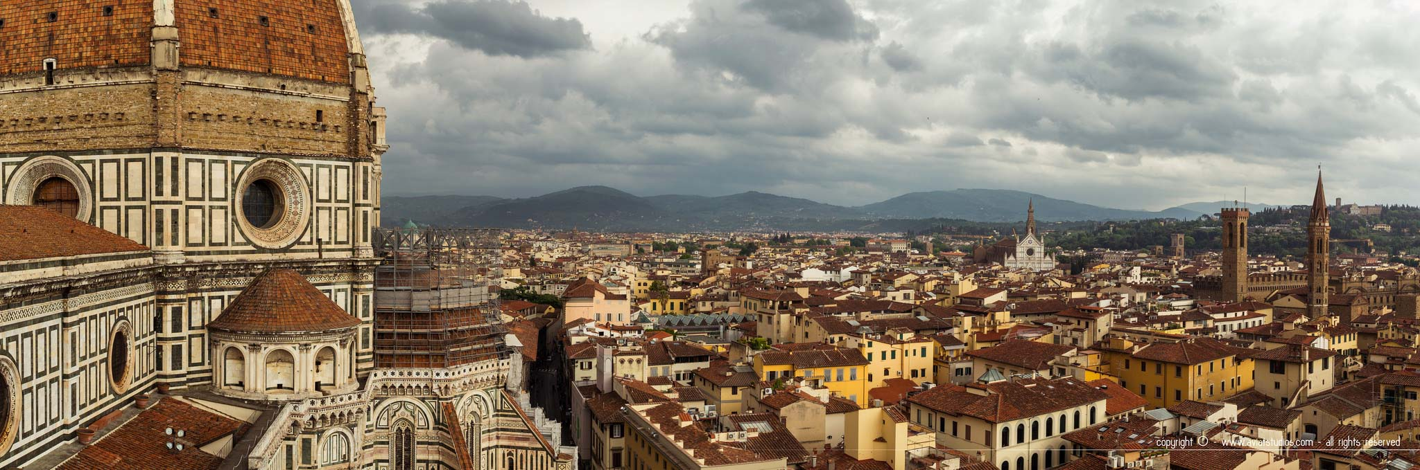 Panorama sur Florence depuis la terrasse du Campanile