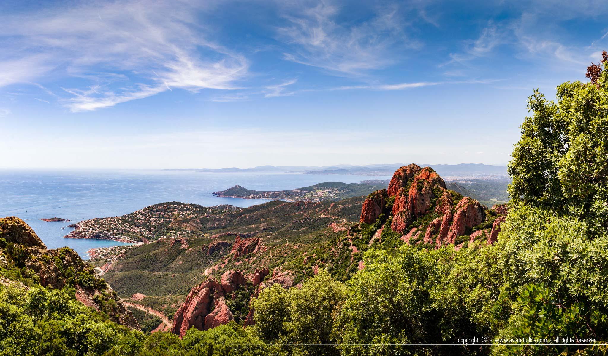 Randonnée dans l'Estérel - Panorama vers l'ouest