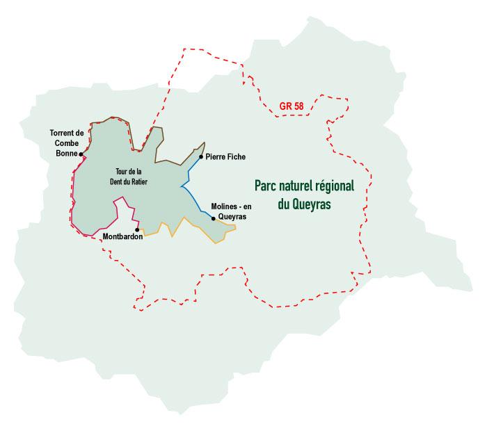 Trek dans le Queyras - carte