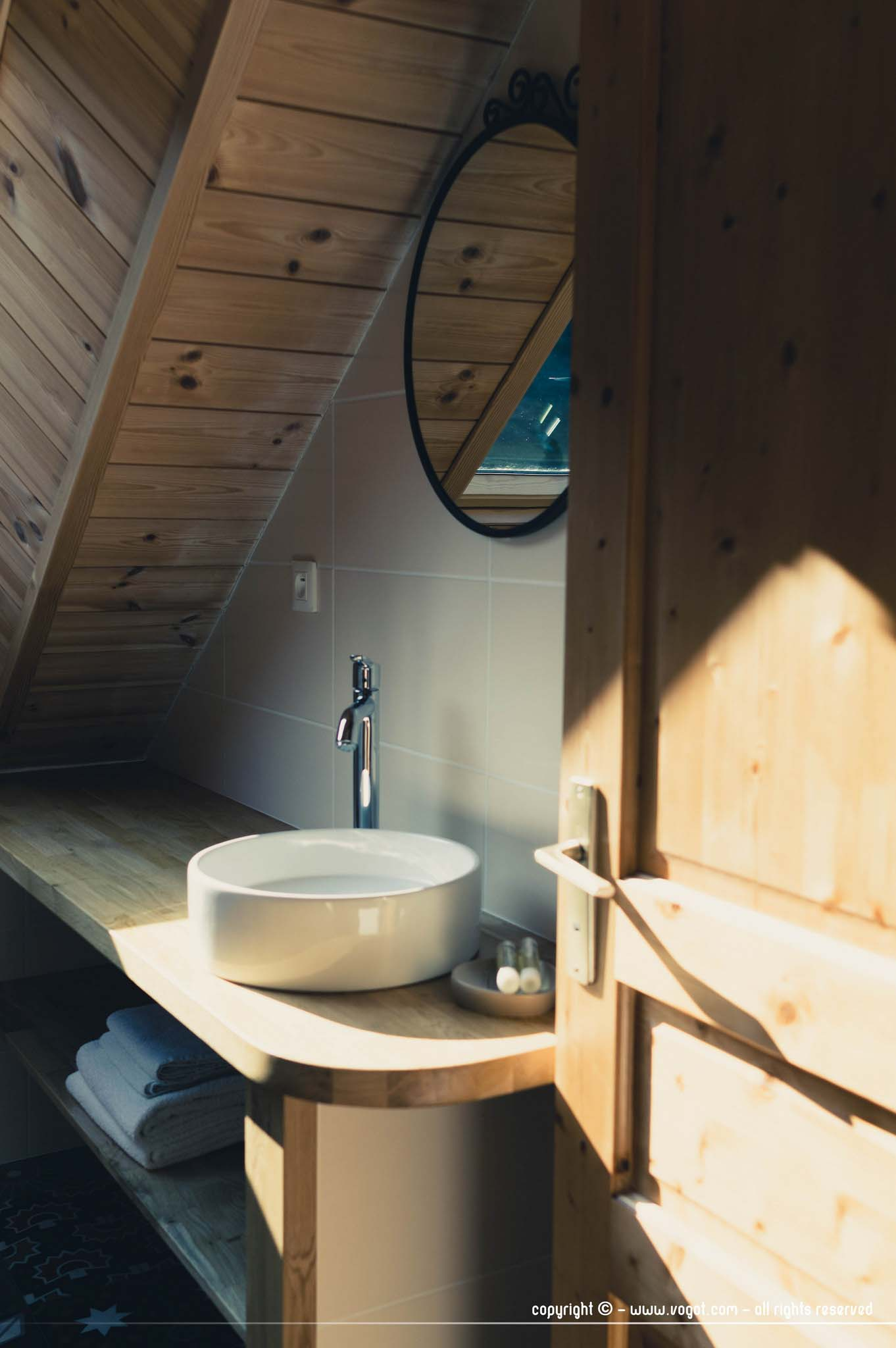 Autour de Saint-Véran - notre salle de bain à la Baïta du Loup