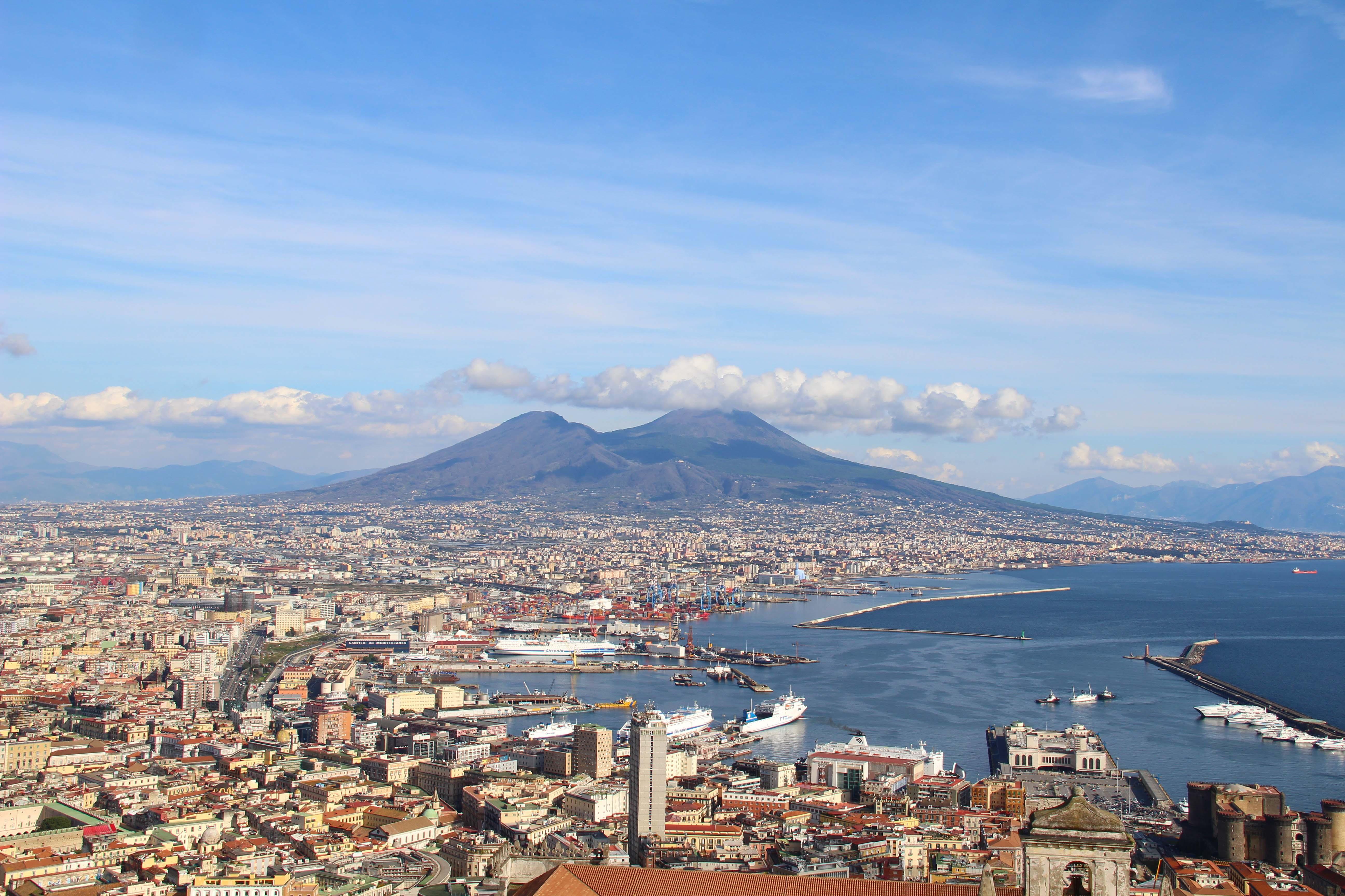 Naples depuis le château Sant'Elmo