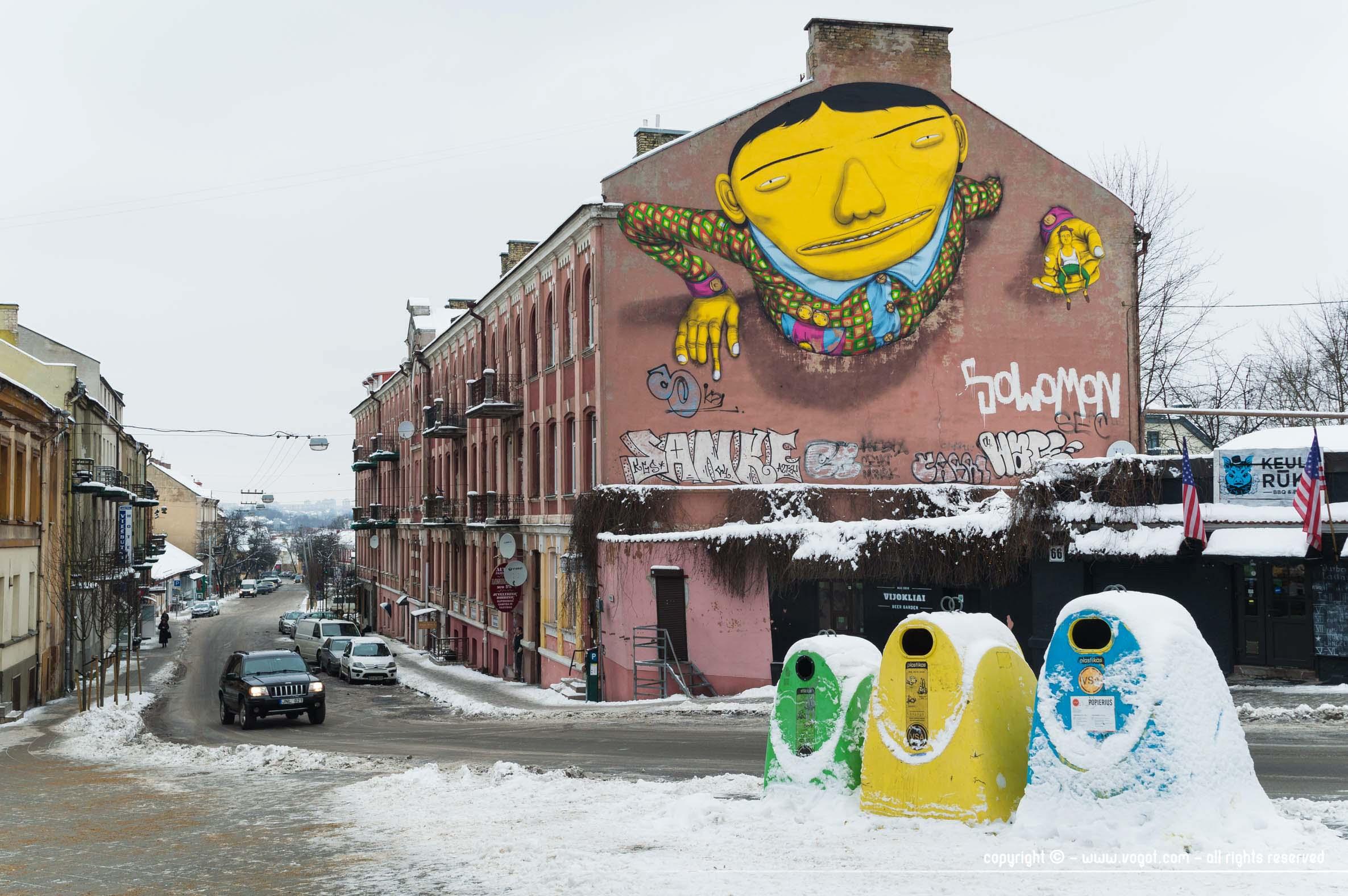 une semaine à Vilnius - Street Art rue Pylimo