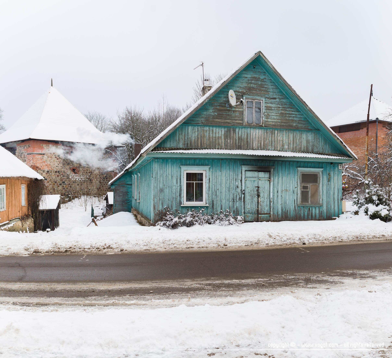 Trakai en hiver - Les maisons colorées sont toutes plus belles les unes que les autres