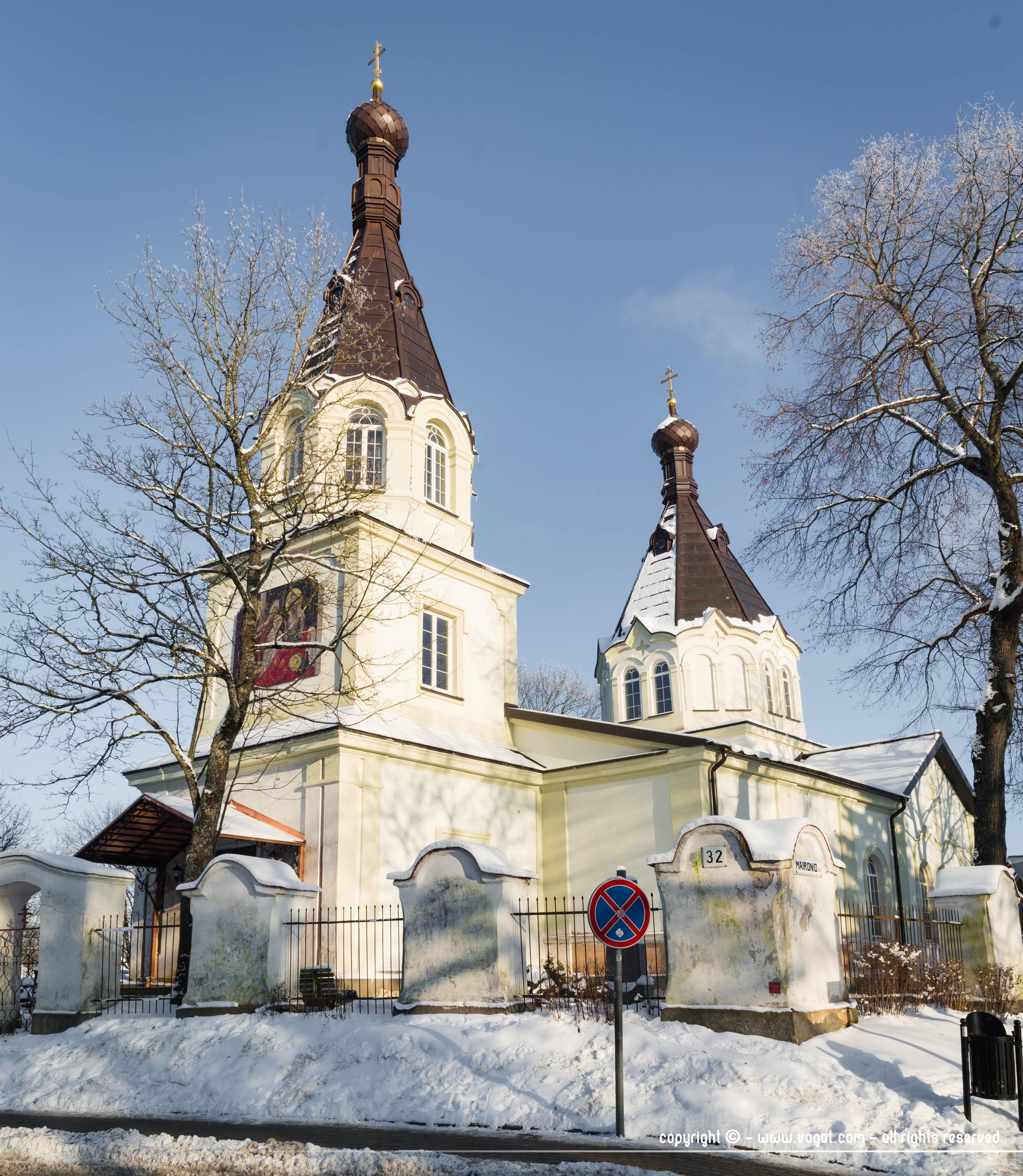 Trakai en hiver - Eglise orthodoxe de la Nativité de la Très Sainte Mère de Dieu