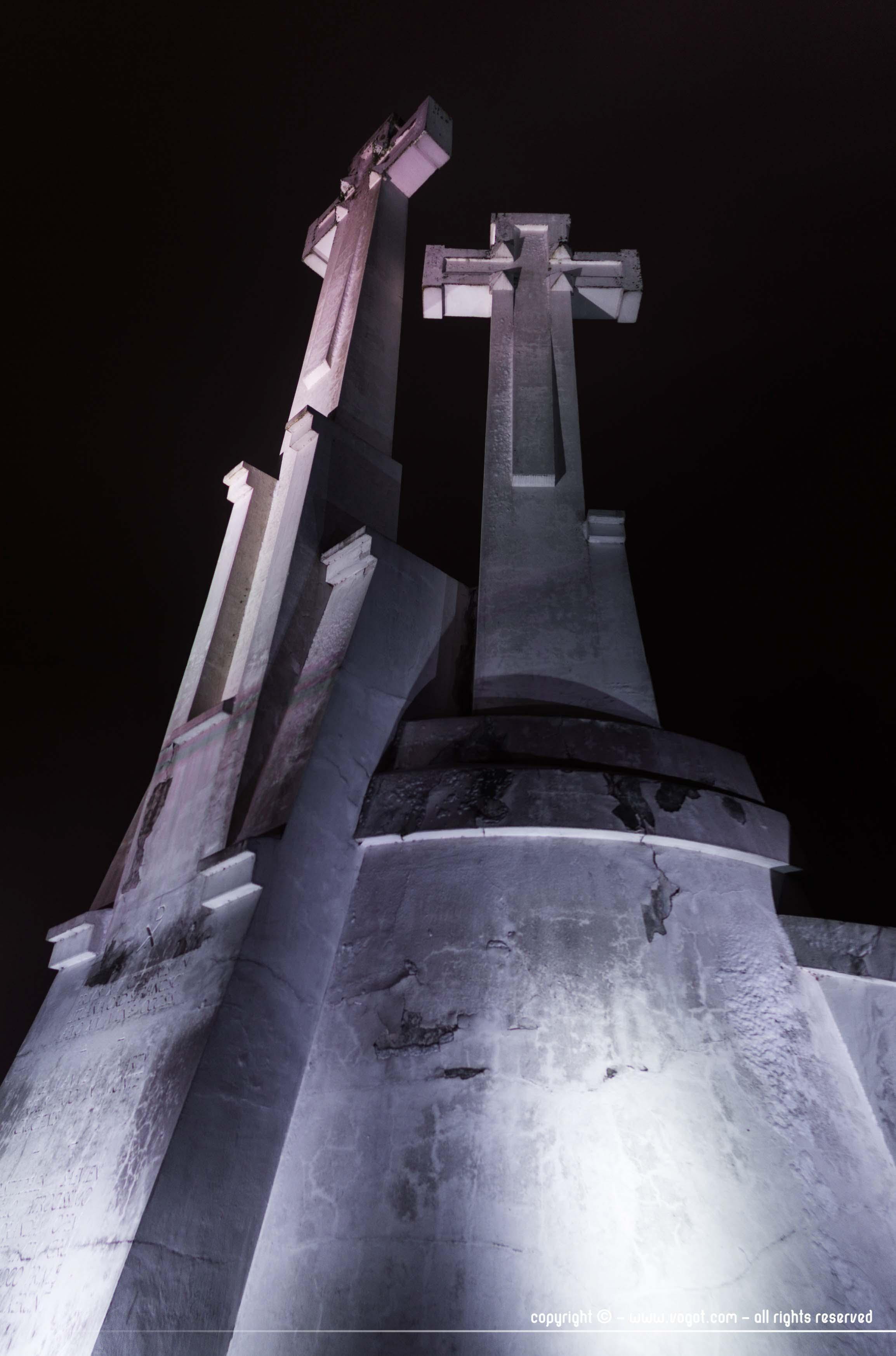 Les Trois Croix vues de nuit - Vilnius