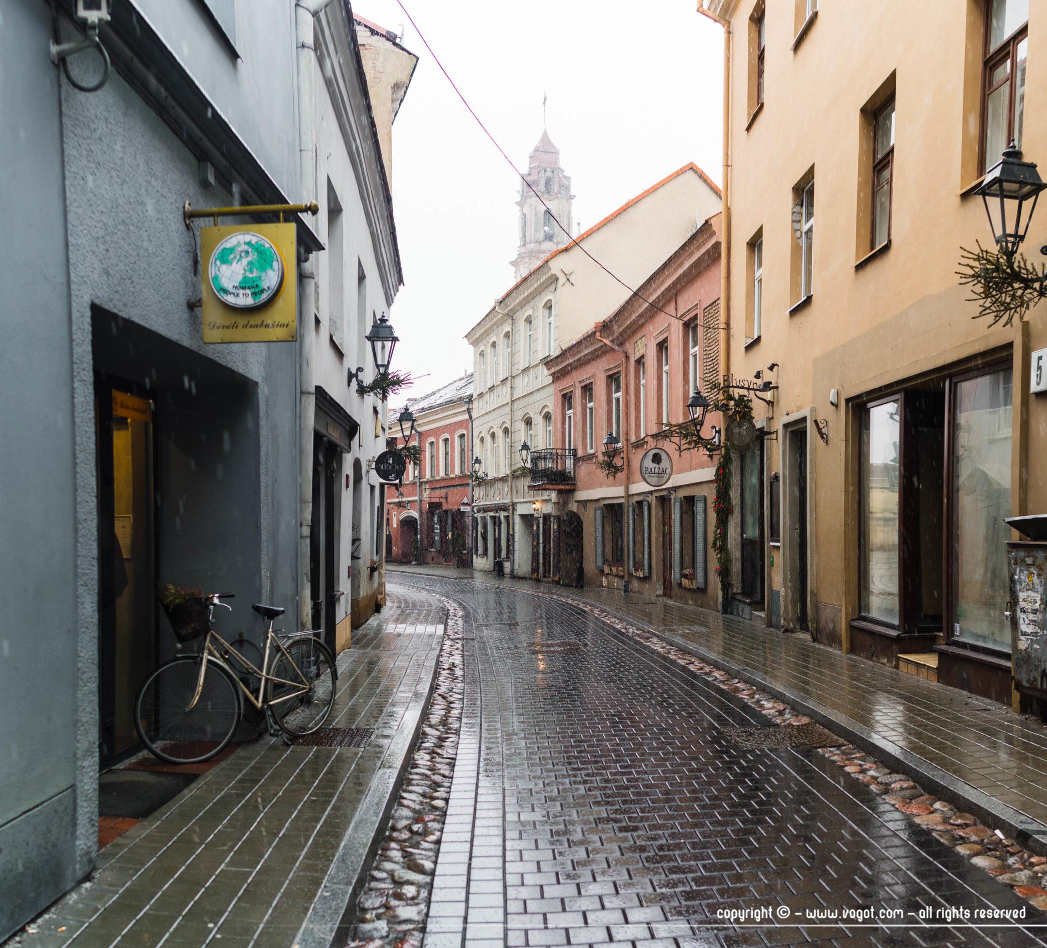 une semaine à Vilnius - Rue Savičiaus
