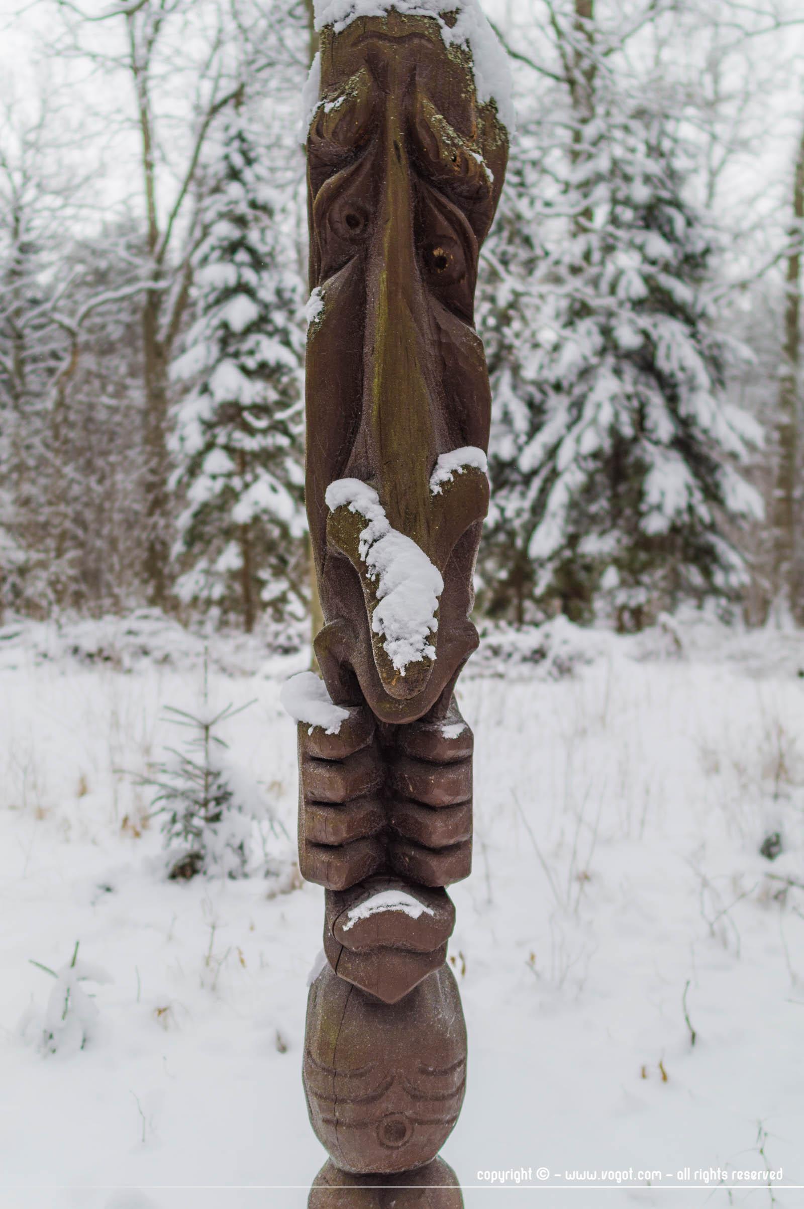 Escapade nature autour de Vilnius - Sculpture en bois parc régional de la Néris