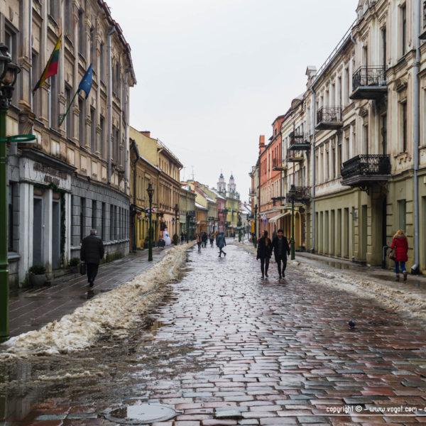 Rue Vilniaus à Kaunas