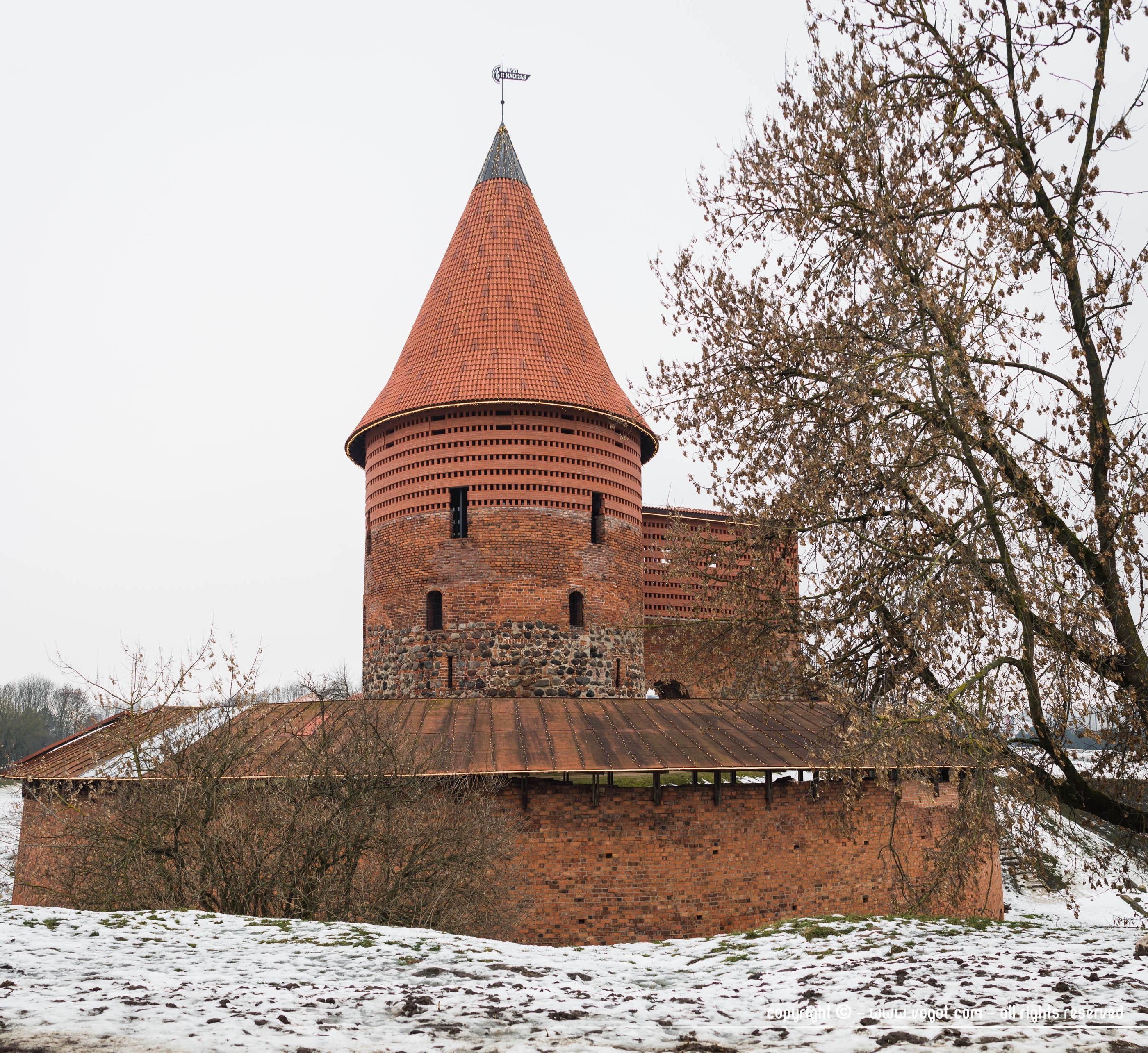 Une journée à Kaunas - Les restes de la forteresse de Kaunas datant du XIVème siècle